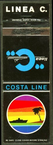 Costa Line Cruise Line ship matchcover for sale