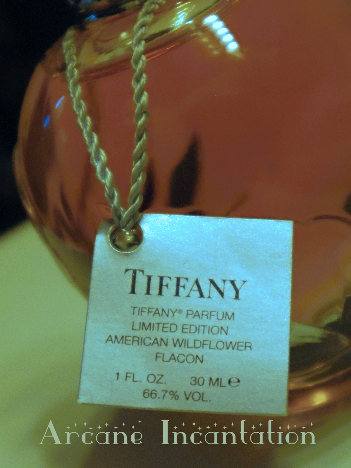 Image 1 of Tiffany 2004 LE #85/1000 American Wildflower Parfum 30ml/1oz Sterling/Crystal