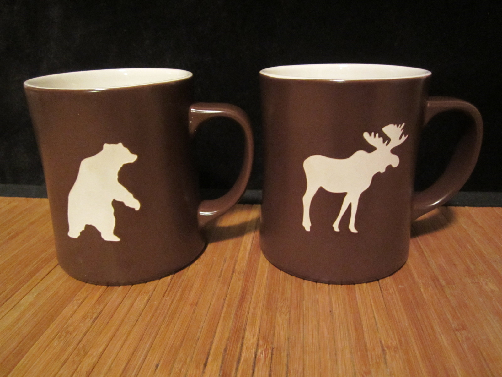 Starbucks Brown Amp White Mug 2009 Moose Amp 2010 Bear