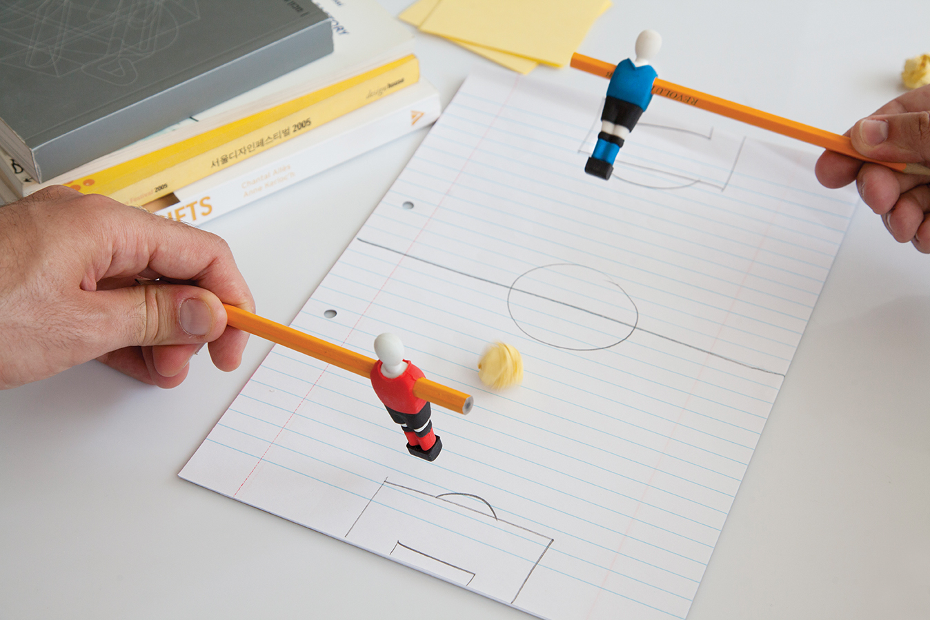 Kids funky gifts penball football erasers x 2 design table for Funky household gifts