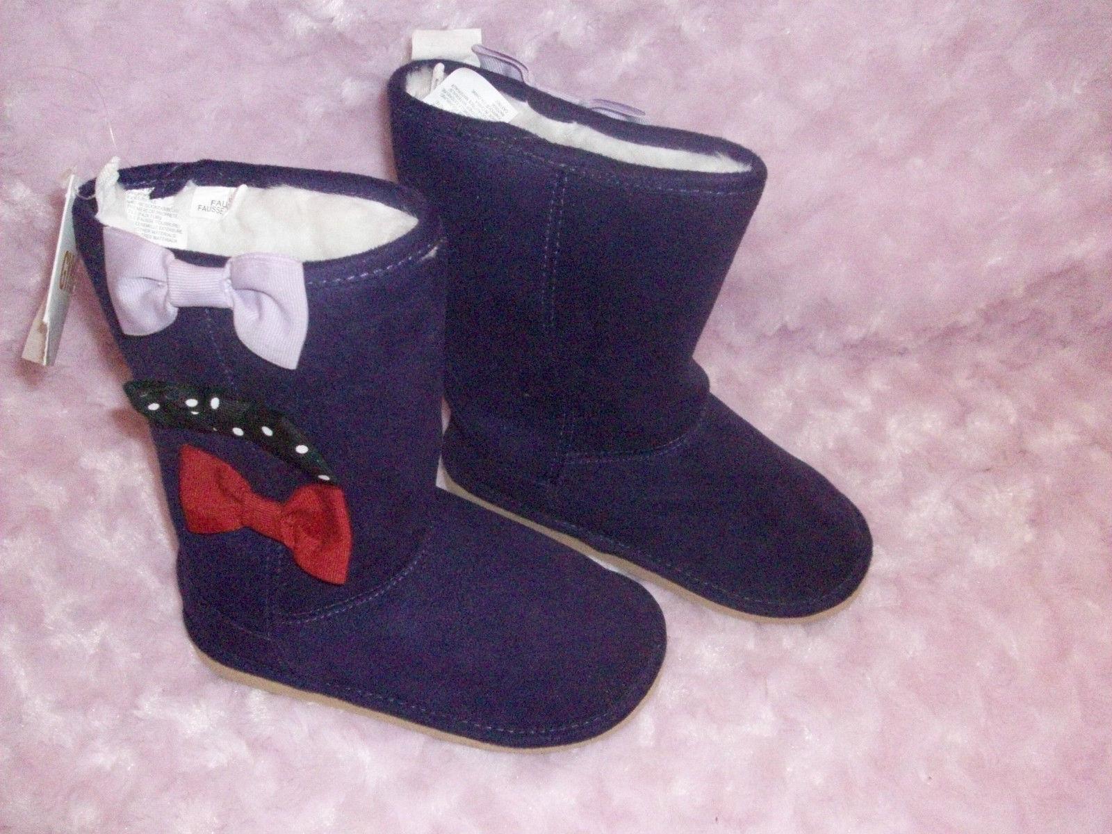 nwts gymboree winter penguin faux suede purple boots