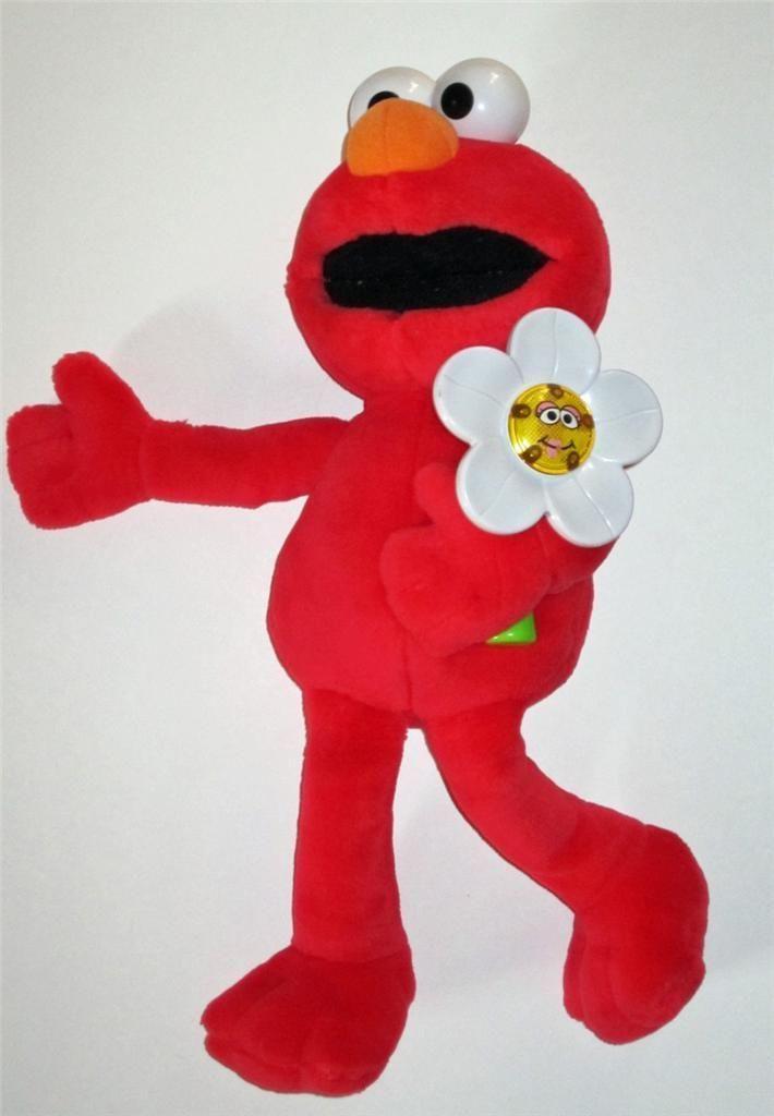 Talking Elmo Toy : Sesame street elmo loves you talking doll light up flower