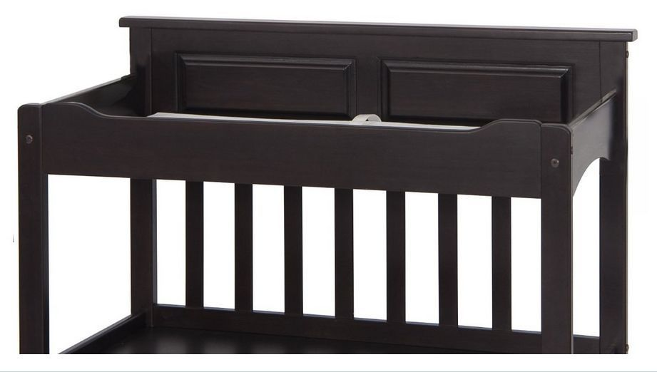 Baby Changing Table Dresser Diaper Station Crib Nursery Furniture Storage Black Changing Tables