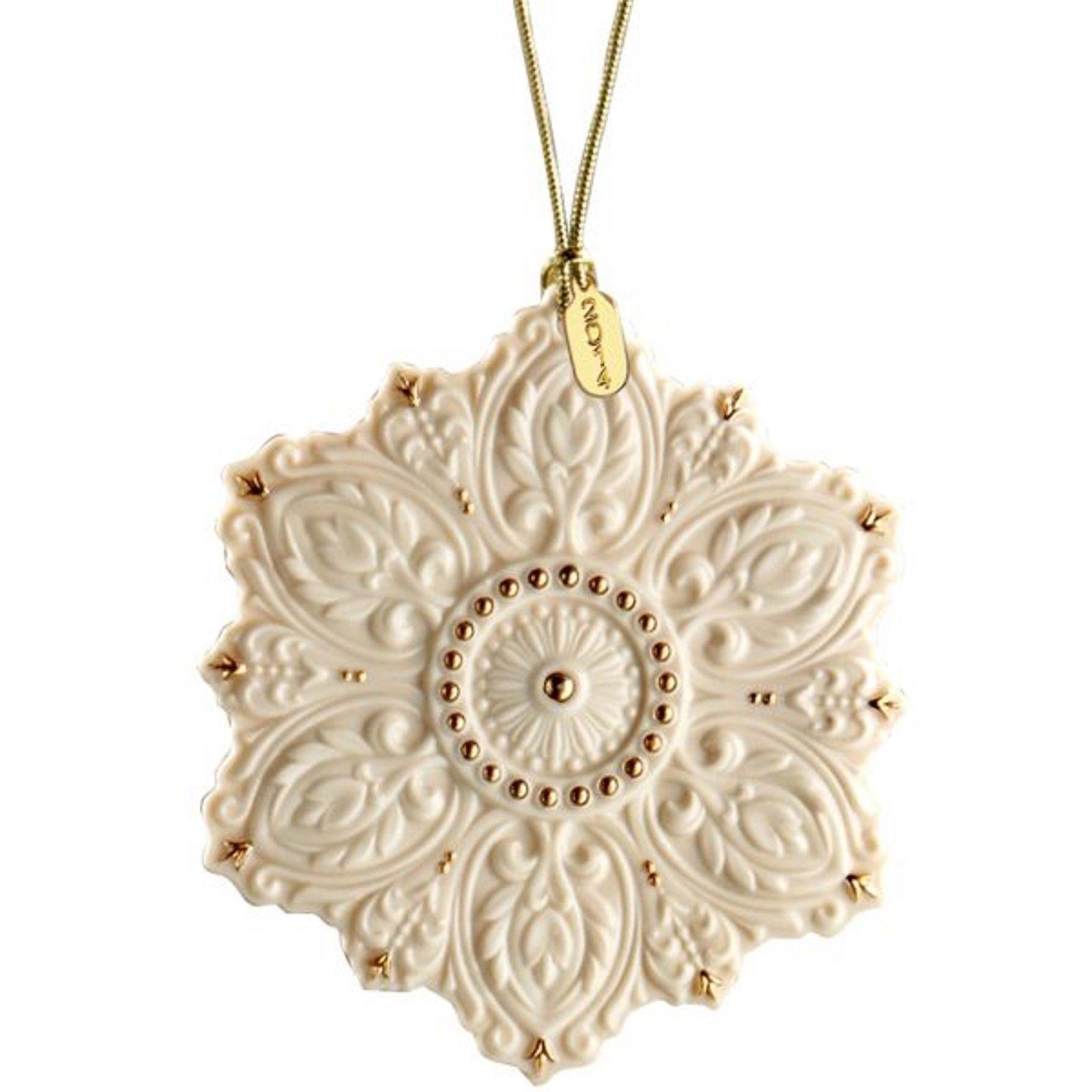 Lenox Christmas 125th Anniversary Snowflake Ornament Ivory ...