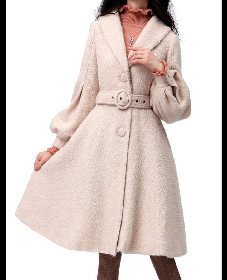 light pink coat light pink coat wool dress coat apring autumn 948