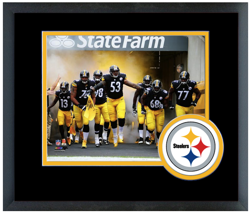 Pittsburgh Steelers 2014 Team Introduction 11x14 Team Logo Matted Framed Photo Football Nfl