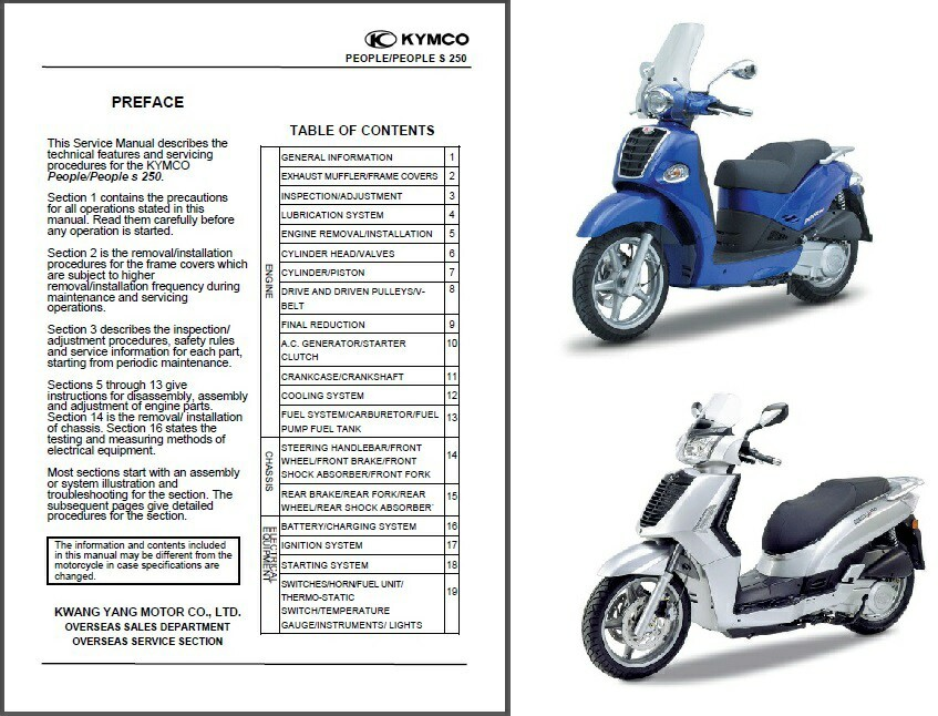 kymco people 250 people s 250 scooter service repair. Black Bedroom Furniture Sets. Home Design Ideas