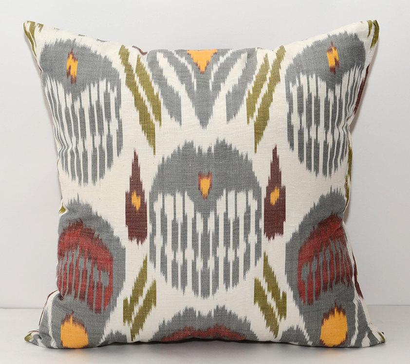 gray sofa orange pillows - photo #19