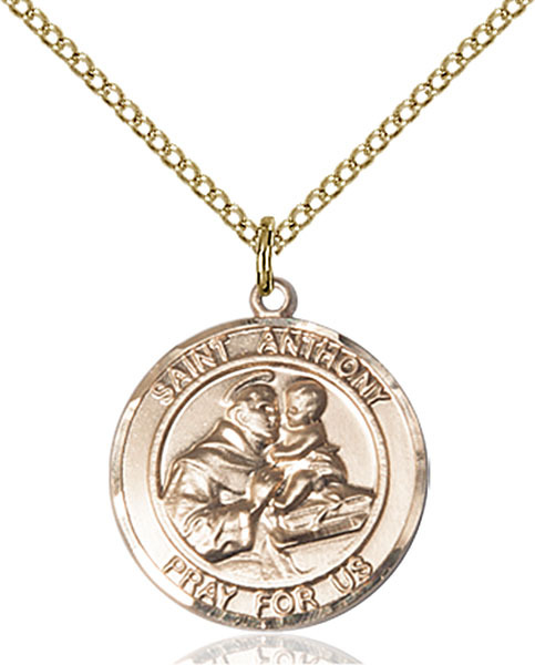 st anthony coin necklace