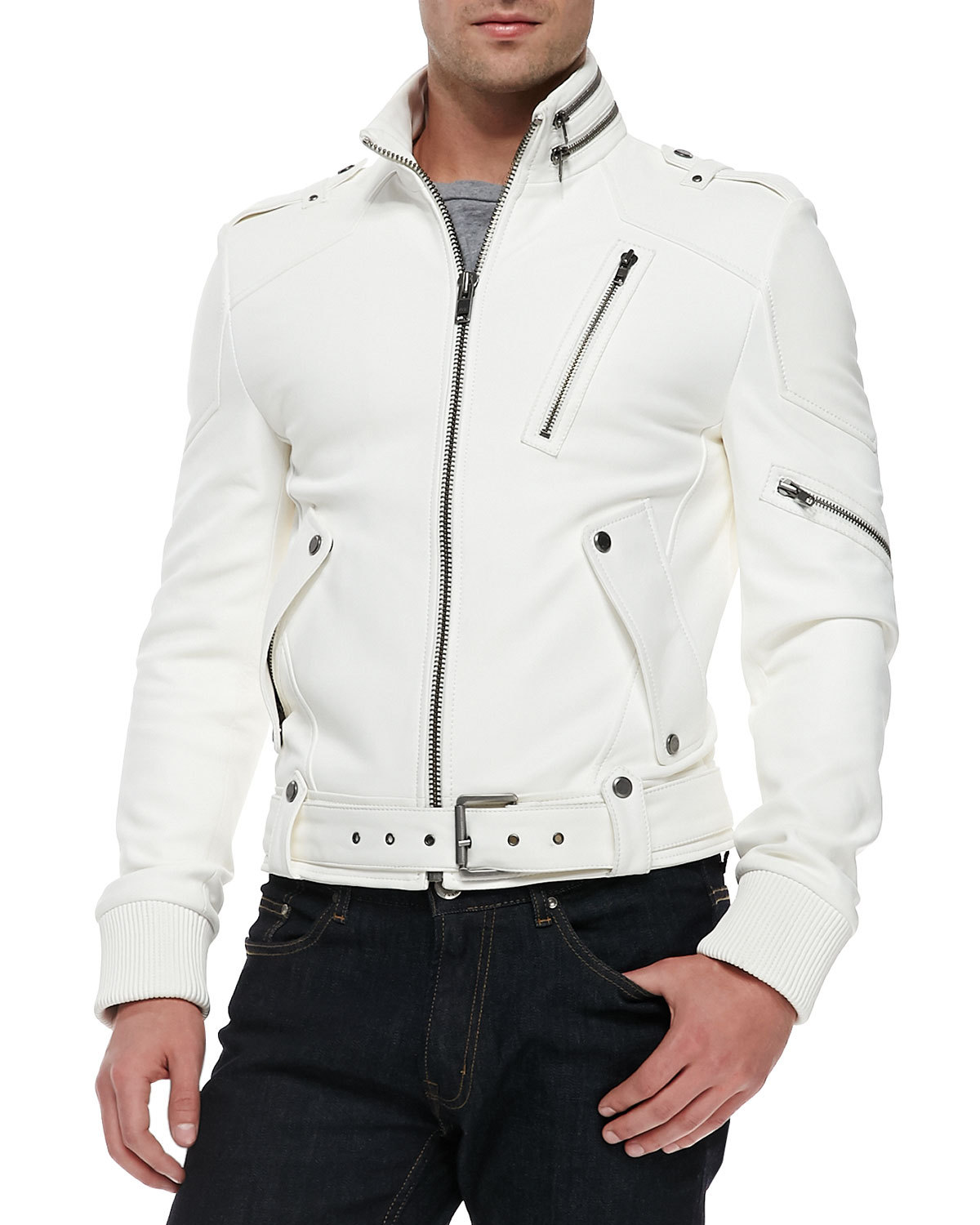 Find white leather jackets for men at ShopStyle. Shop the latest collection of white leather jackets for men from the most popular stores - all in one Black White Leather Jacket Men Mens Cream Leather Jacket Get a Sale Alert Pre-Owned at TheRealReal Christian Dior Leather Moto Jacket $1, $2, Get a Sale Alert Extra 40% Off.