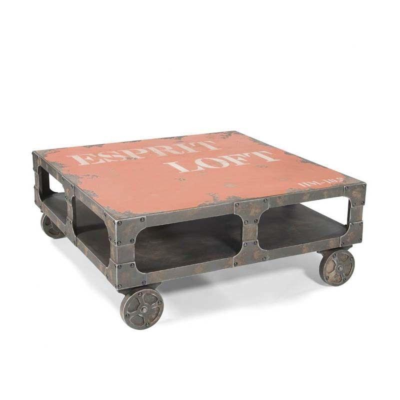 Loft Restoration Industrial Style Hardware Steel Coffee Table Tables