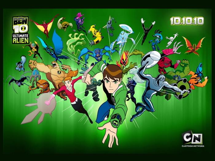 Ben 10 Ultimate Alien Characters Cartoon TV Series Art