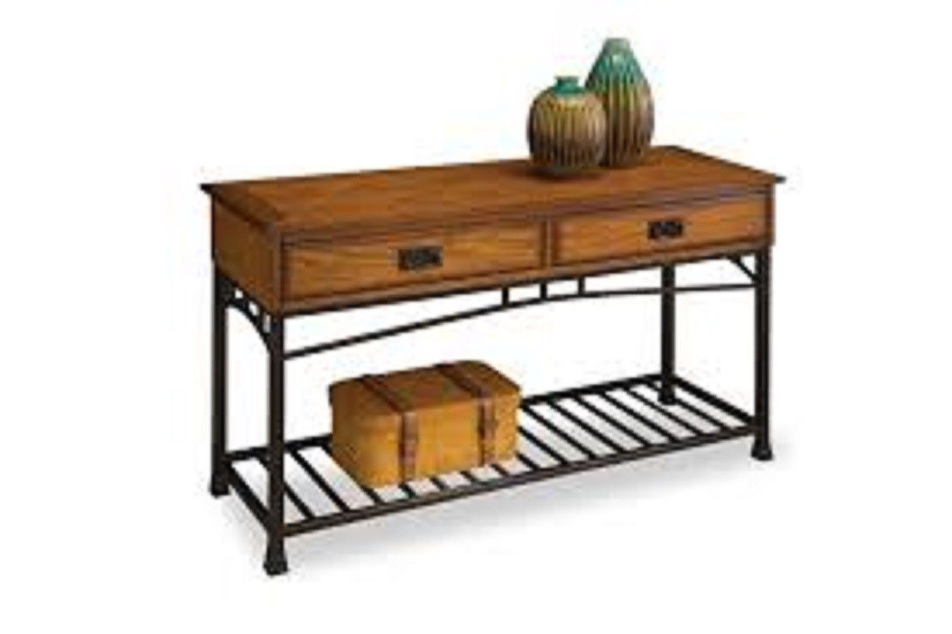 Sofa Table Distressed Oak Finish Storage Shelf Display Rack Living . Full resolution  img, nominally Width 1375 Height 915 pixels, img with #9E692D.