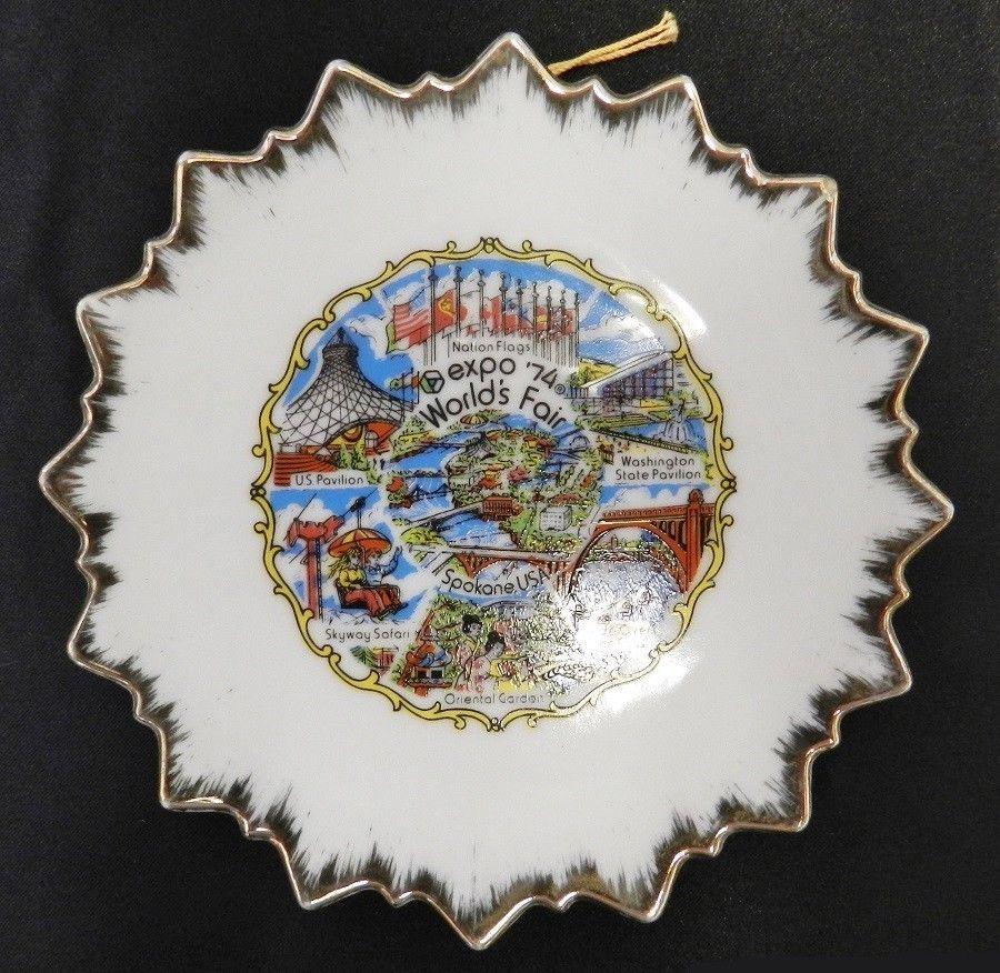 Decorative Wall Plates Nz : Worlds fair expo plate spokane washington usa