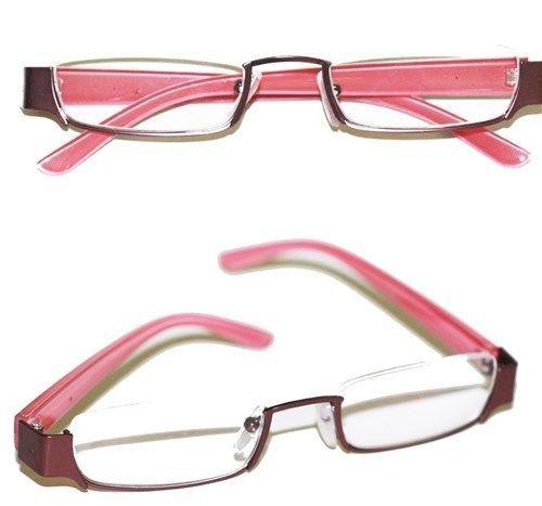 Reading Glasses TOPLESS Half Eye Delicate Reader ~ Bronze ...