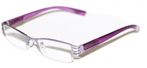 Narrow Frame Reading Glasses : Reading Glasses BRUSHED METAL Cut-Out Frame Narrow Lens ...