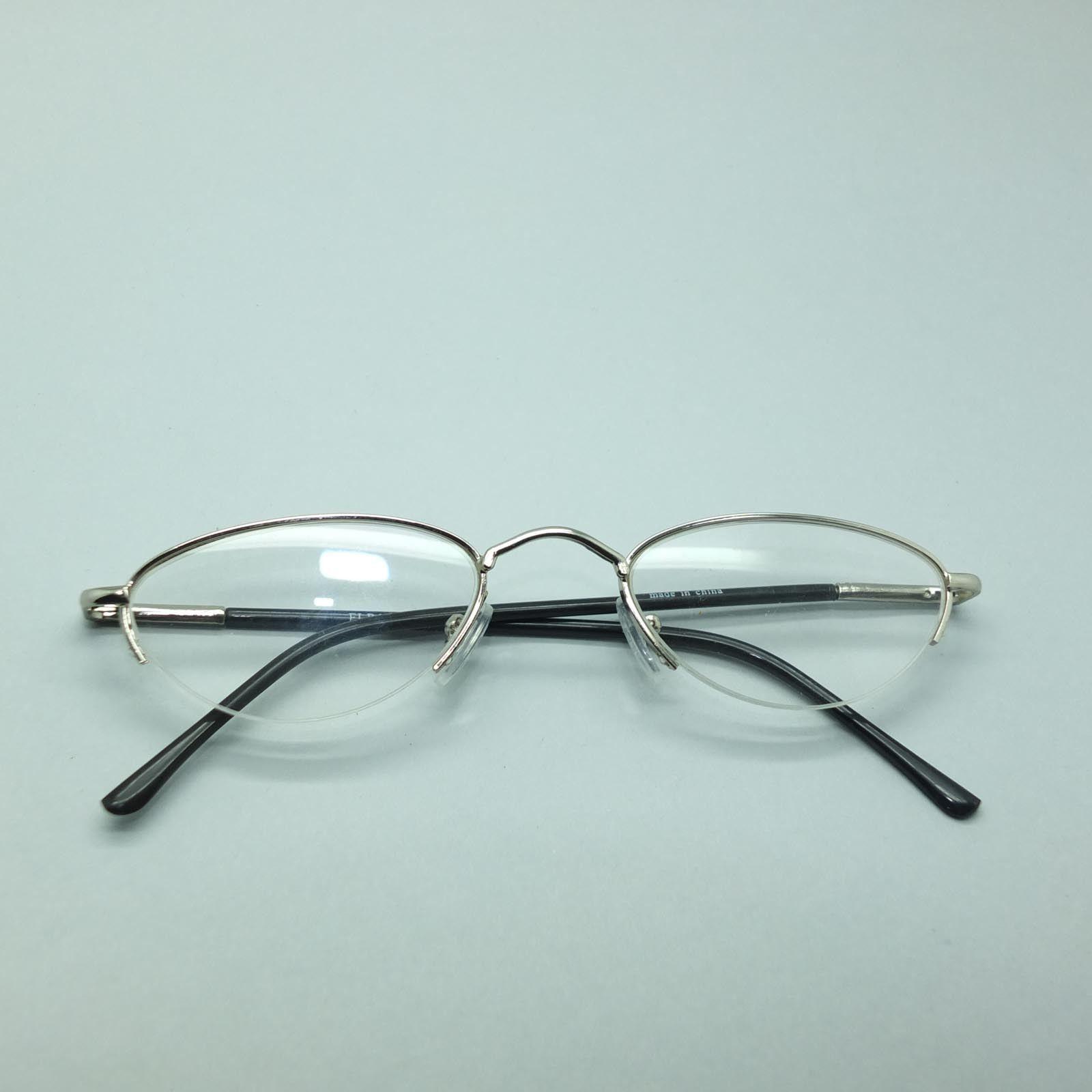 Best Metal Frame Glasses : Delicate Oval Silver Metal Top Frame Reading Glasses ...