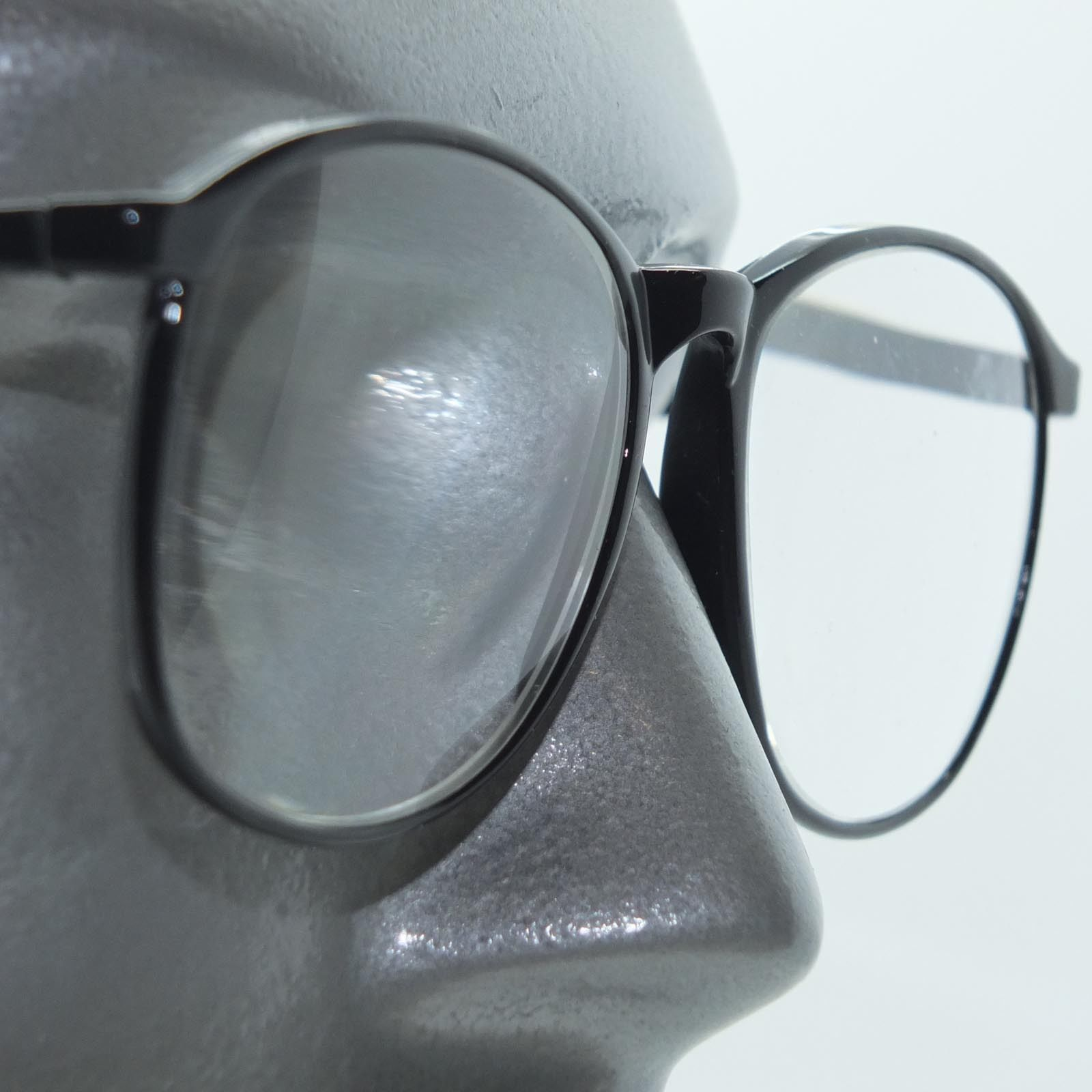 big lens polished smart black frame reading glasses 3 75