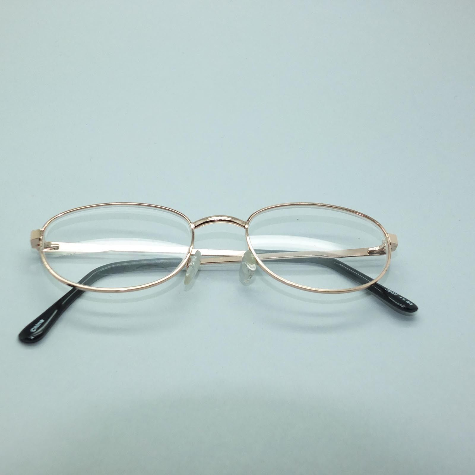 simple peepers metal gold small frame reading glasses 1