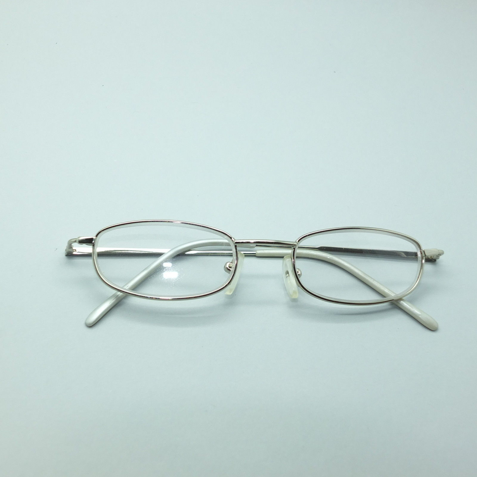 Reading Glasses Gold Metal Petite Rectangle Frame +1.25 ...