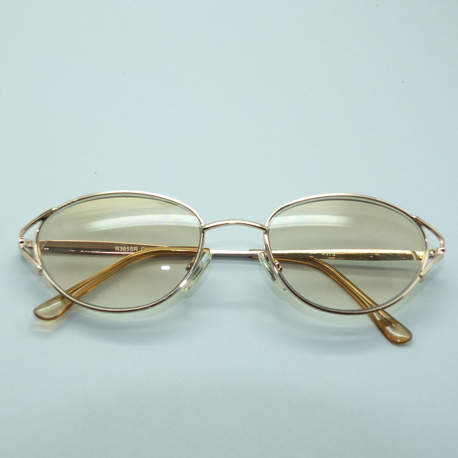 Classic Ladies Oval Pretty Gold Frame Tinted Sunglasses ...
