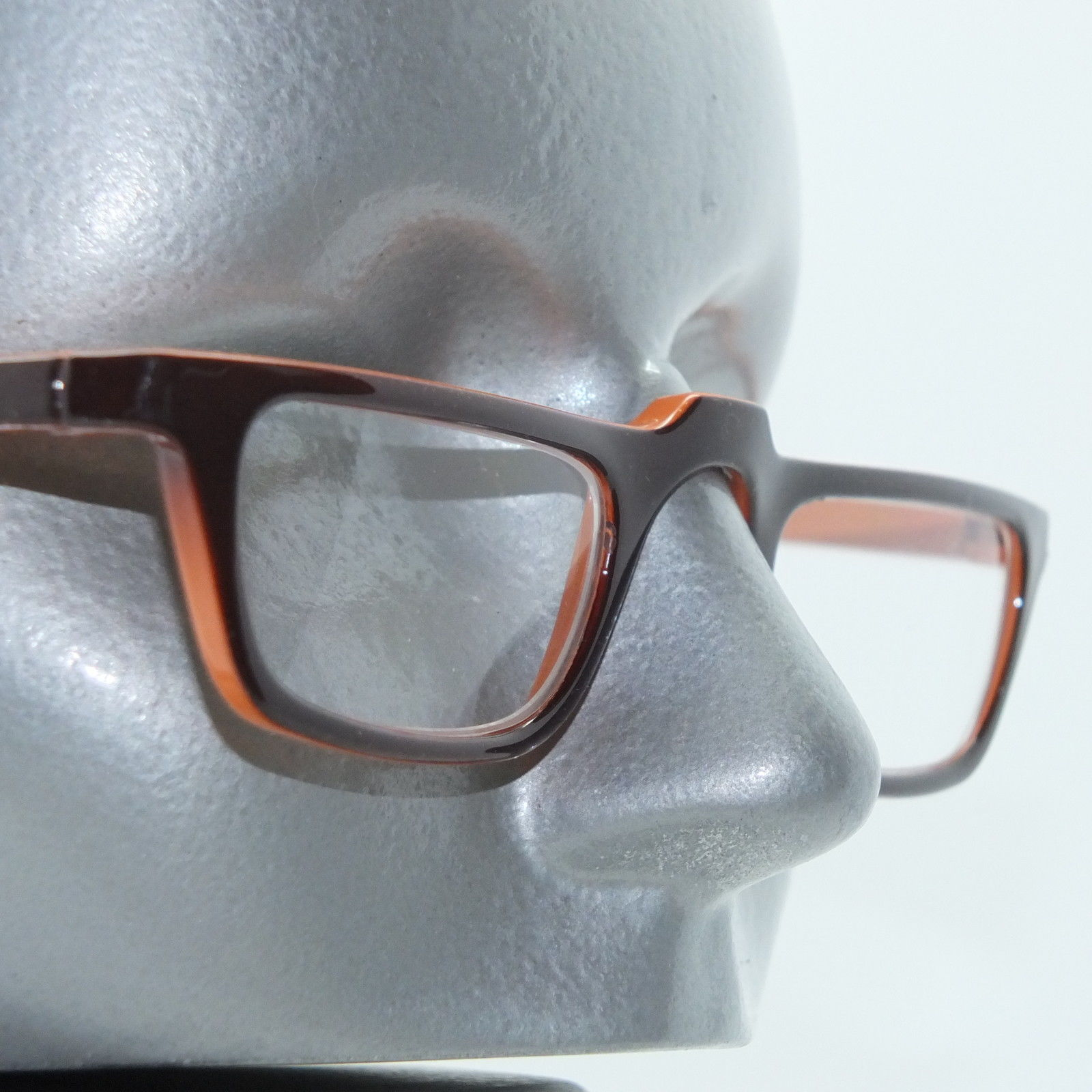 Half Eye Low Rise Brown Orange Ombre Frame Reading Glasses ...