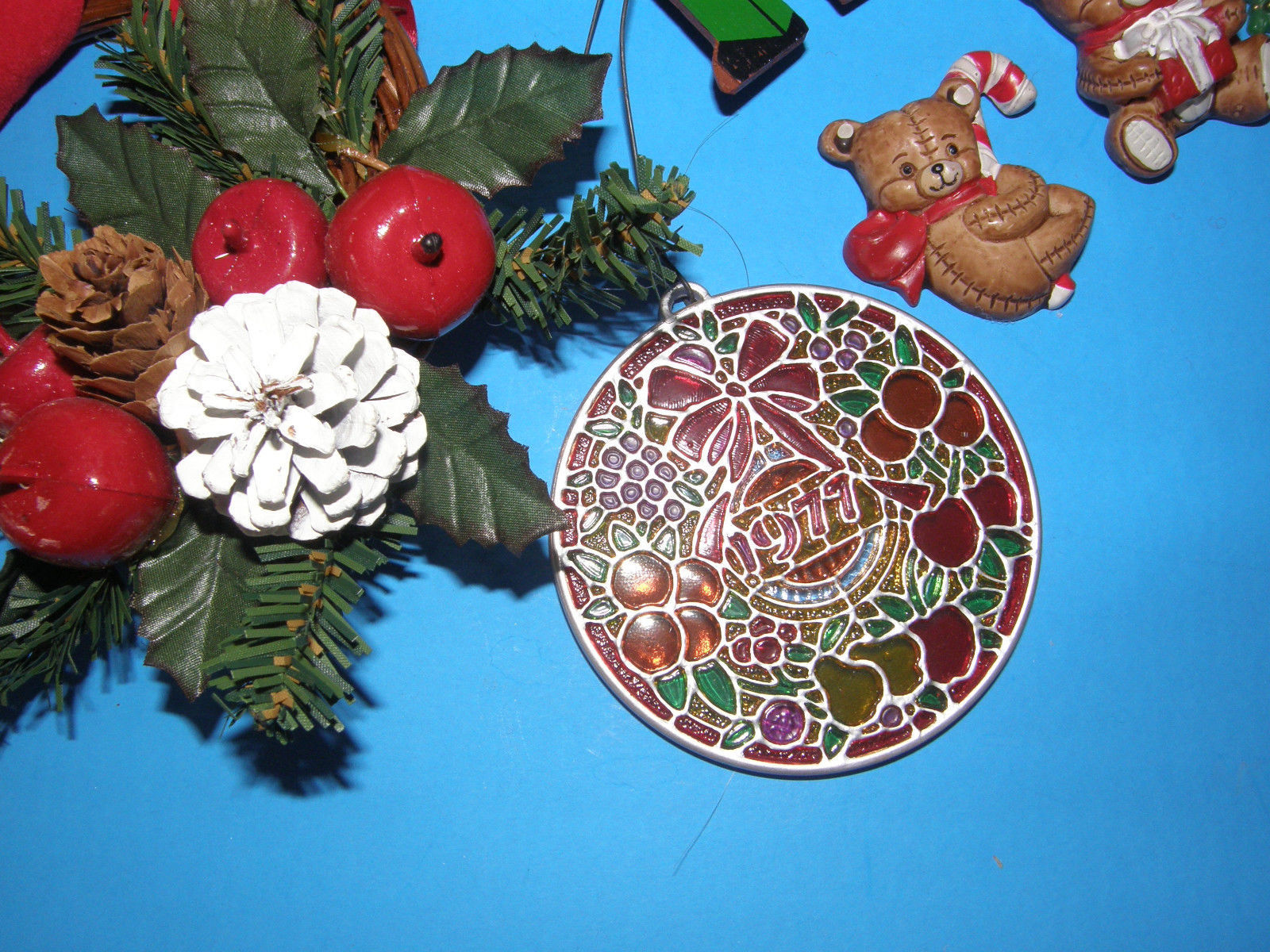 Lot of assorted christmas tree ornaments different