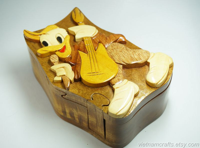 hand carved wood art intarsia donald puzzle and 24 similar
