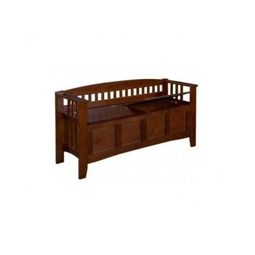 Storage Bench Wood Foyer Split Seat Hallway Entryway Bedroom Mud Room Playroom Benches Stools