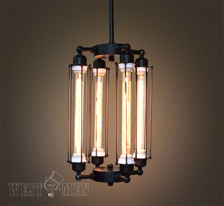 chandelier steampunk ceiling lamp industrial contemporary edison light