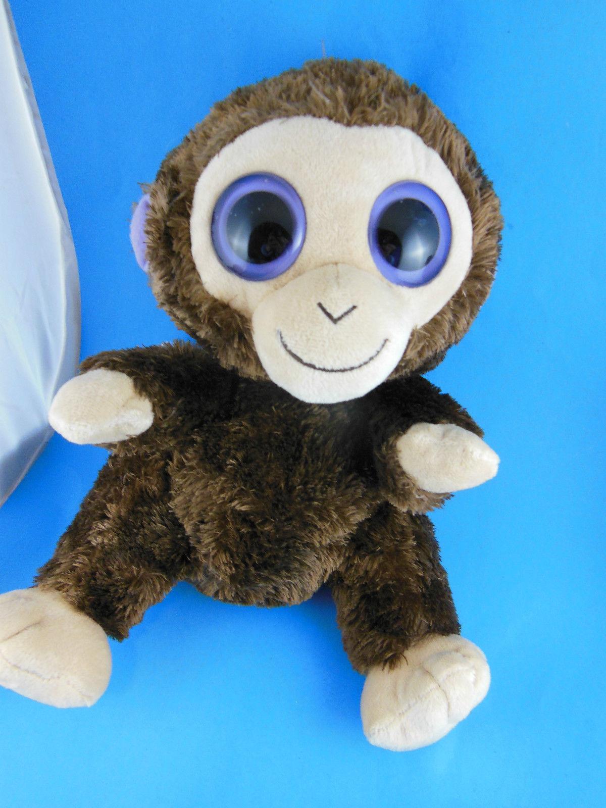 Ty Beanie Babies Coconut Monkey Plush with Big Purple Eyes ...