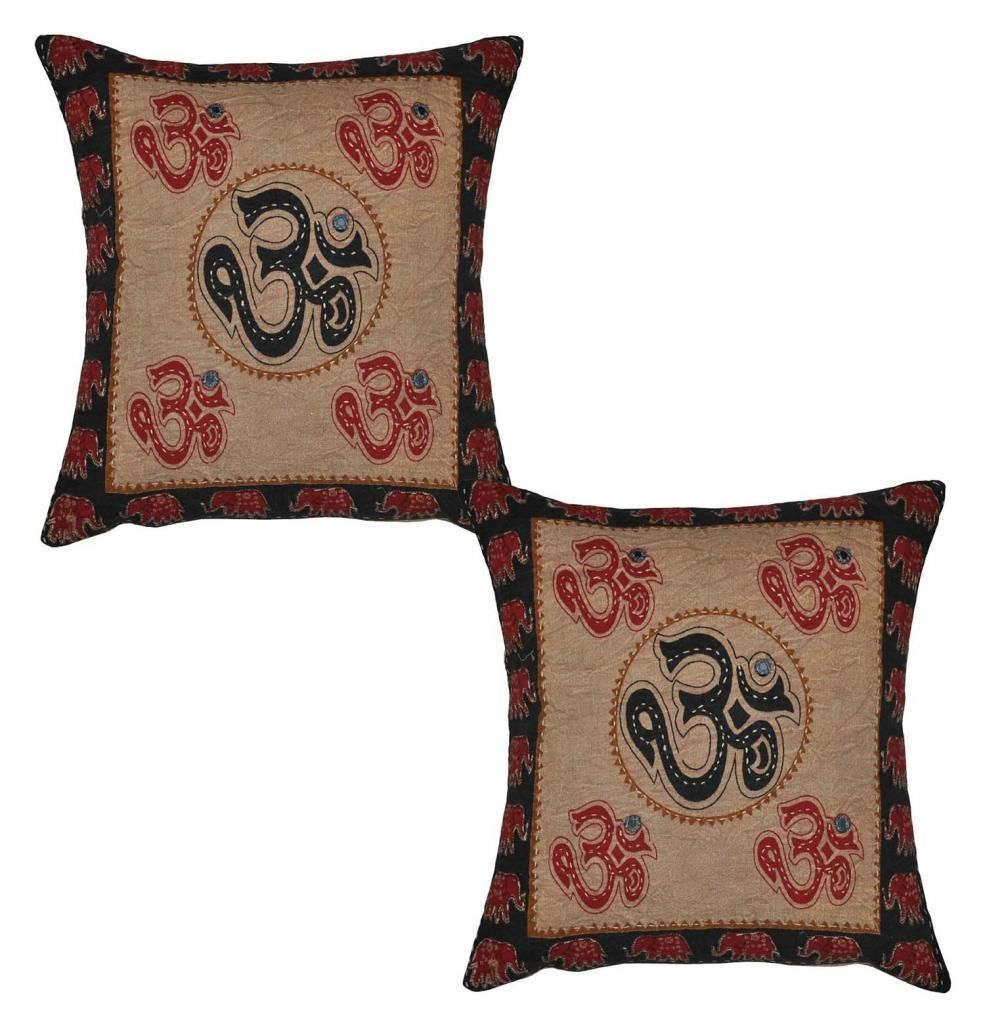 Quot indian home décorative cotton embroidery work om