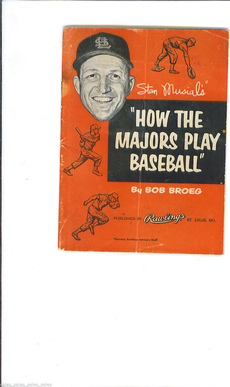 Stan musial how the majors play baseball 1957 rawlings for A bathroom i can play baseball in