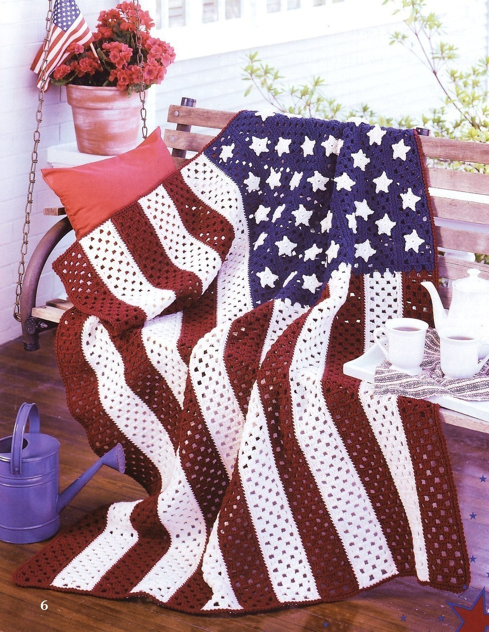 Small American Flag Crochet Pattern : American Pride Afghans Crochet Patterns Book Blankets ...