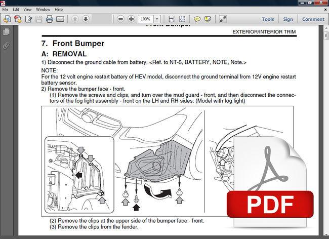 2013 2014 Subaru Xv Crosstrek Factory Wiring Diagram And
