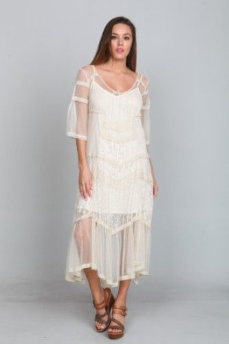 ... Elson Lace Dress maxi gatsby flapper 20s style wedding LARGE - Dresses