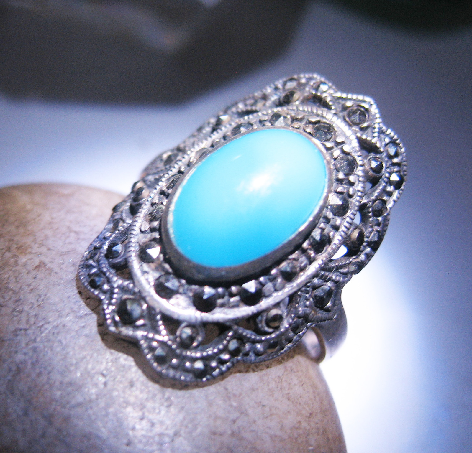 Haunted RING BANISH HEAL EMPOWER DJIN GUIDES MAGICK Spell 925 TURQUOISE Cassia4