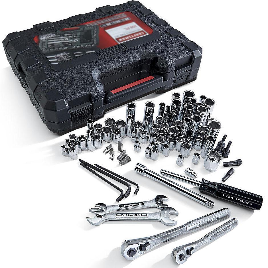 Craftsman 108 Piece Mechanics Tool Set Case Socket