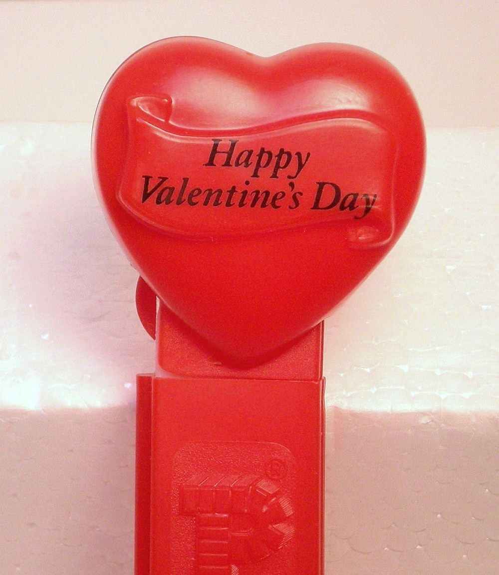 Image 2 of Pez Happy Valentines Day red heart introduced 1996 no feet