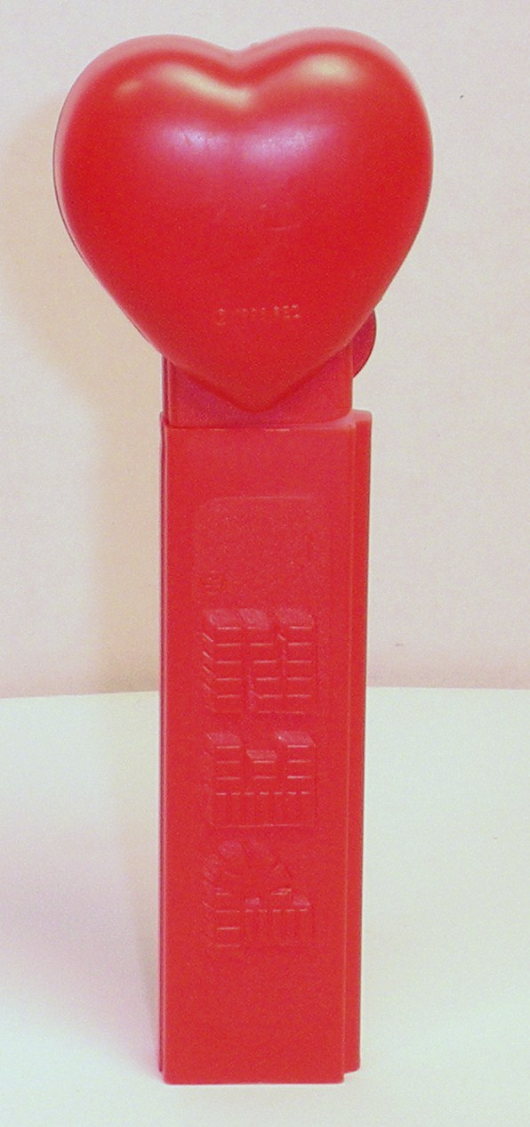 Image 3 of Pez Happy Valentines Day red heart introduced 1996 no feet