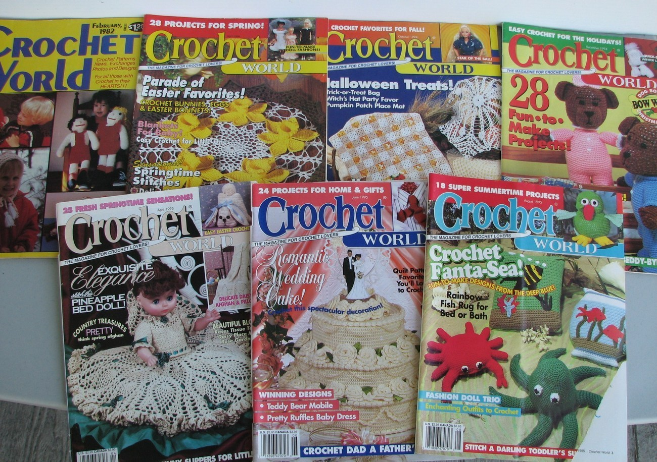 Crochet World magazine 14 Back Issues Patterns Crafts Decor Clothing ...