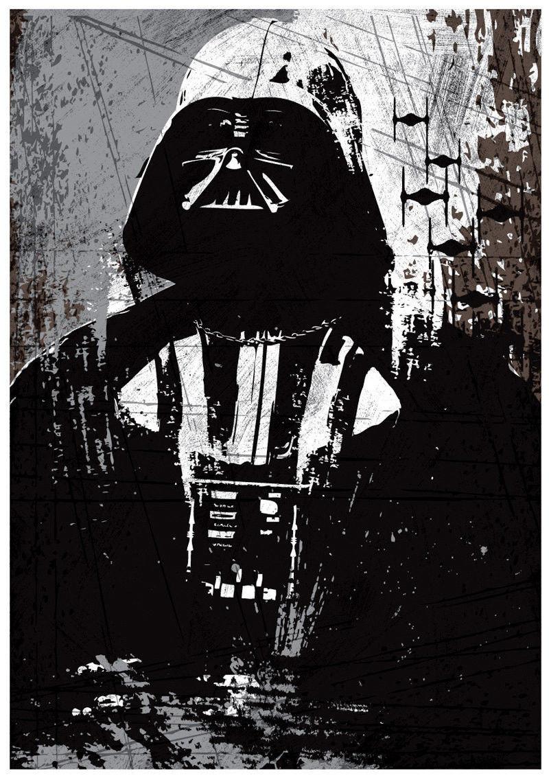 star wars all black darth vader stormtrooper boba fett a3 poster set 2000 now. Black Bedroom Furniture Sets. Home Design Ideas