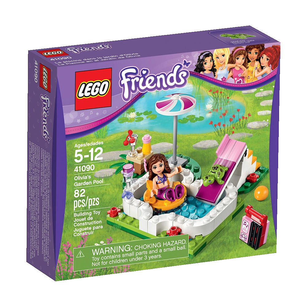 lego friends 41090 olivia 39 s garden pool set sets