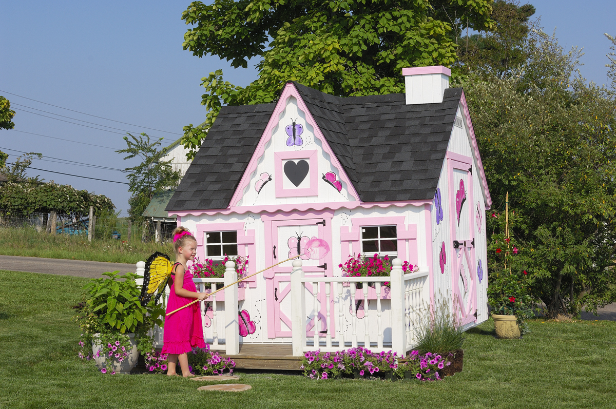Victorian Backyard Floored Playhouse :  Company 4×6 Victorian Playhouse wFloor Kit  Permanent Playhouses
