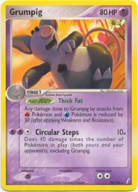 Grumpig 20 100 Rare Ex Crystal Guardians Pokemon Card