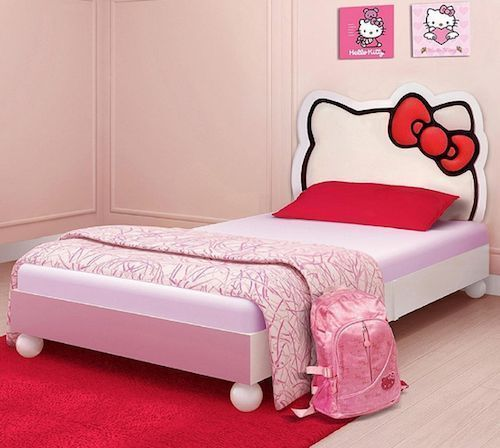 hello kitty bed bedroom pink twin bedding set room youth girls