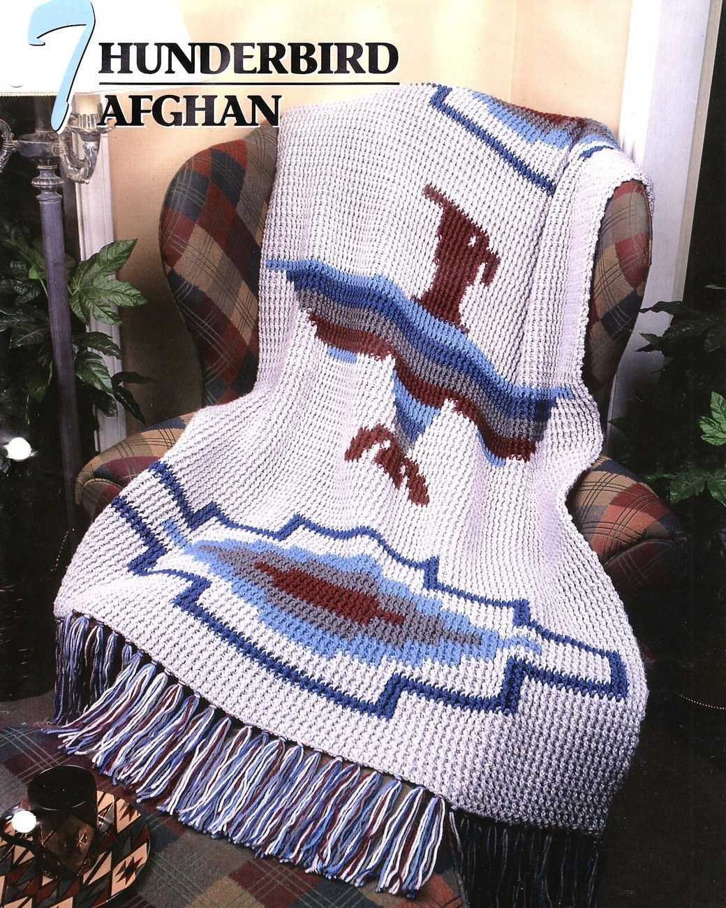 Thunderbird Afghan Crochet Pattern Southwest Indian Blanket Throw ...