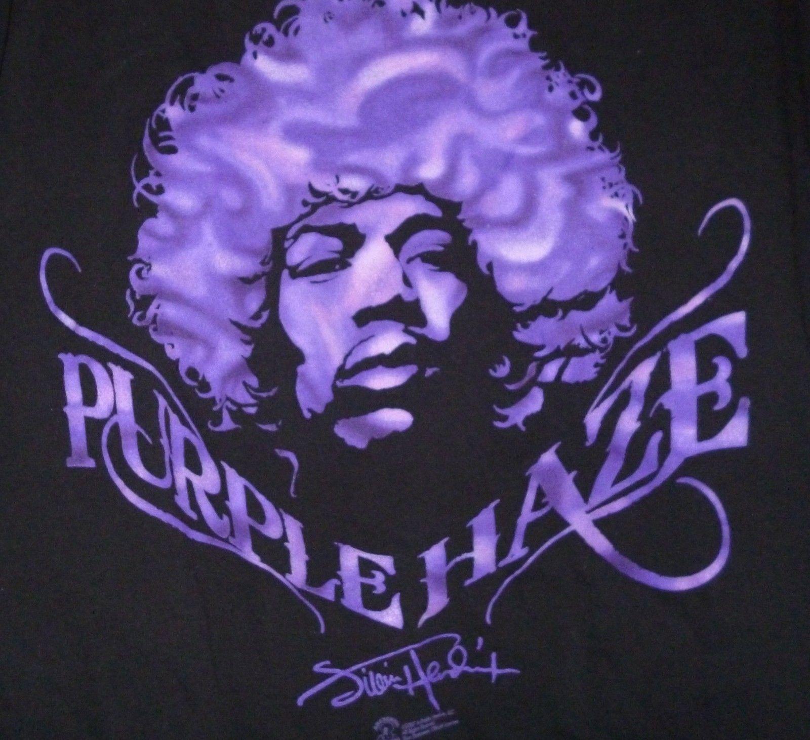 men 39 s jimi hendrix purple haze tshirt size large apparel. Black Bedroom Furniture Sets. Home Design Ideas