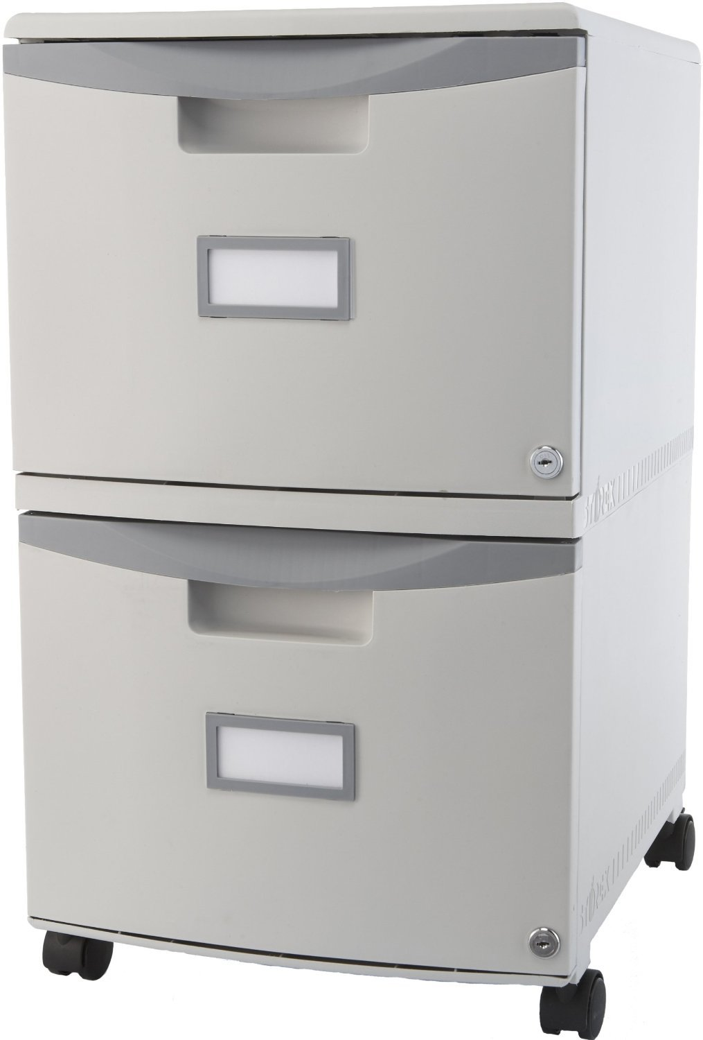 Portable Storage Cabinet Short : Drawer home small office file mobile filing locking
