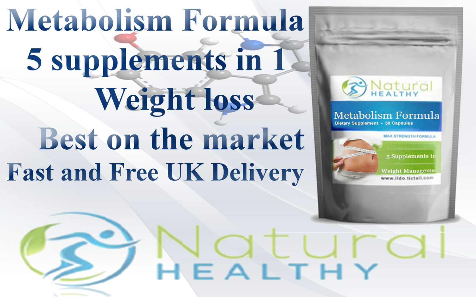 Metabolism formula 5 supplements in 1 weight loss fat burn ...